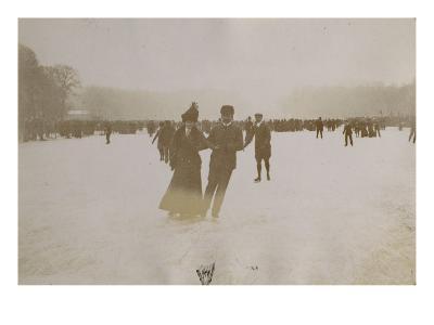 Photo Album: Ice Skating Scene in Versailles in 1900