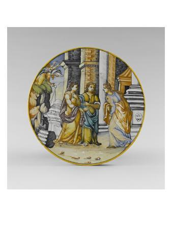 Plate: Psyche Tells His Misfortune with His Sisters