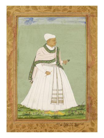 Portrait of Akana, Minister of the Shah of Golconda