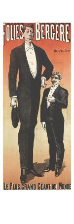 Poster Folies Bergere, the Biggest Giant of the World