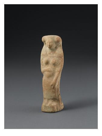 Statuette of Seated Pregnant Woman Gravida Type Dea