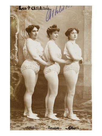 The 4 Athletes. Athlete, Louise, Anna, Weight Lifters