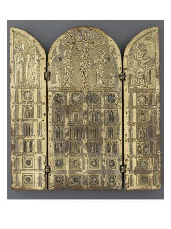 Triptych-Reliquary Visitation Crucifixion Evangelist