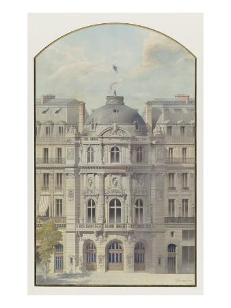 Vaudeville Theatre (Paris): Elevation of the Rotunda