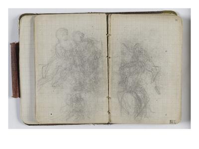 Sketchbook Circa 1865-1870; Studies with Characters