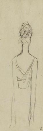 Yvette Guilbert, les deux bras tombant le long du corps