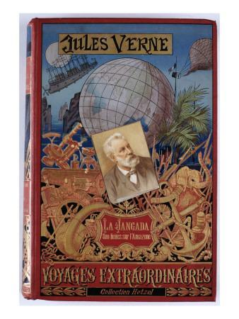 """Jules Verne, """"The Jangada 800 Leagues on the Amazon"""", Cover"""