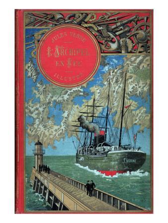 "Jules Verne, Cover of ""Propeller Island"""