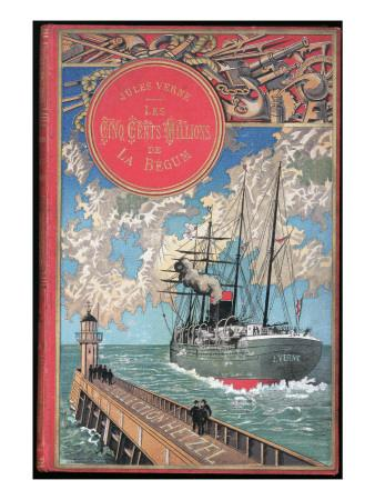 """Jules Verne, """"The 500 Millions of the Begum"""", Cover"""