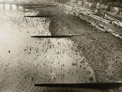 Aerial View of the Beach at Brighton, Sussex (1933)