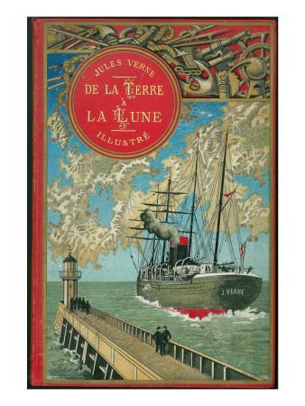 """Jules Verne, """"From the Earth to the Moon"""", Cover"""