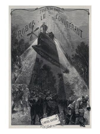 """Jules Verne, """"Robur the Conqueror"""", Frontispiece"""