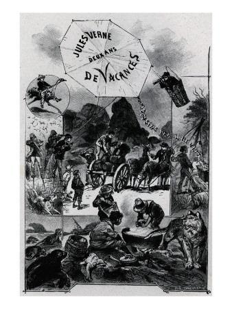 """Jules Verne, """"Two Years Holiday"""", Frontispiece"""