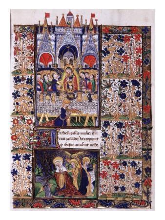 Manuscript of the Hours of Rohan-Montauban: The Last Supper, And the Holy Women