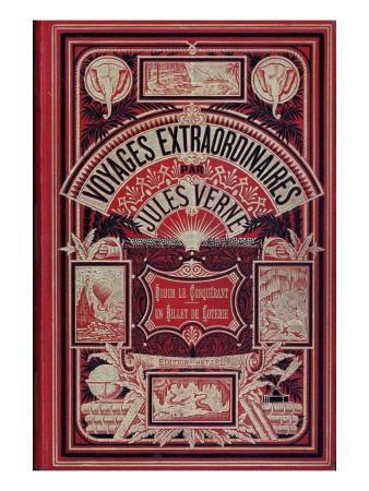 """Front Page of """"Robur Le Conquérant"""" and """"Un Billet De Loterie"""", by Jules Verne"""