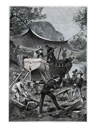 """Jules Verne, """"Two Years Holiday"""", Illustration"""
