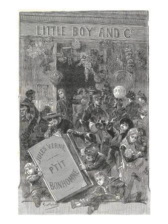 "Jules Verne, Frontispiece of ""Foundling Mick"""