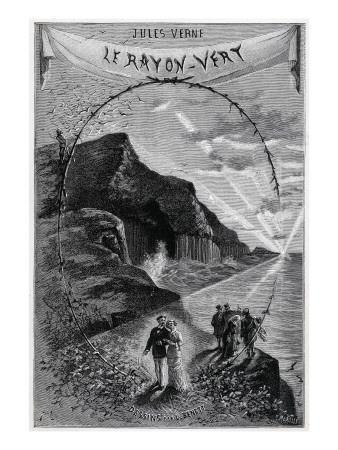 """Jules Verne, Frontispiece of """"The Green Ray"""""""