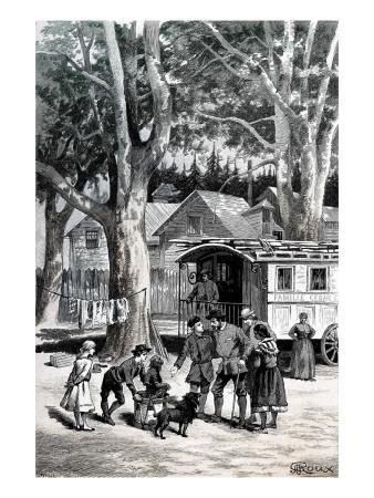 """Jules Verne, """"César Cascabel"""", Illustration"""