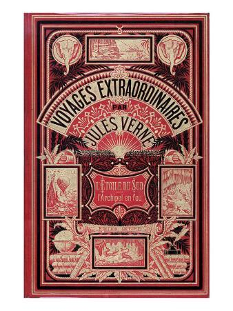 """Jules Verne, Cover of """"Southern Star Mystery"""" and """"Propeller Island"""""""