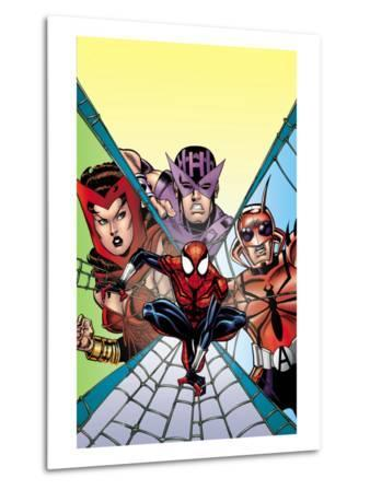 Spider-Girl No.94 Cover: Spider-Man, Hawkeye, Scarlet Witch and Ant-Man