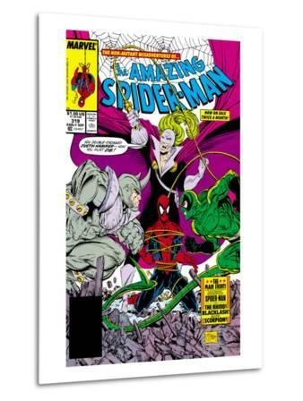 Amazing Spider-Man No.319 Cover: Spider-Man, Blacklash, Scorpion and Rhino
