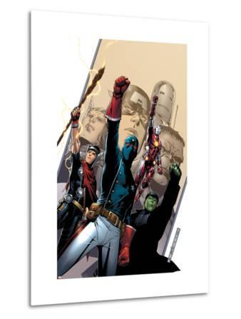 Young Avengers No.2 Cover: Patriot, Hulkling, Iron Lad, Wiccan, Young Avengers and Asgardian