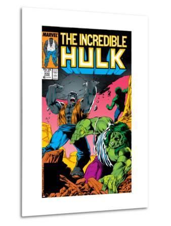 Incredible Hulk No.332 Cover: Hulk Fighting
