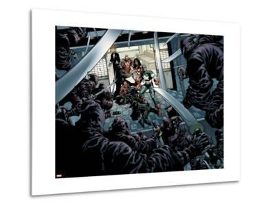 New Avengers No.12 Group: Captain America, Spider-Man, Spider Woman, Iron Man, Ronin and Hand