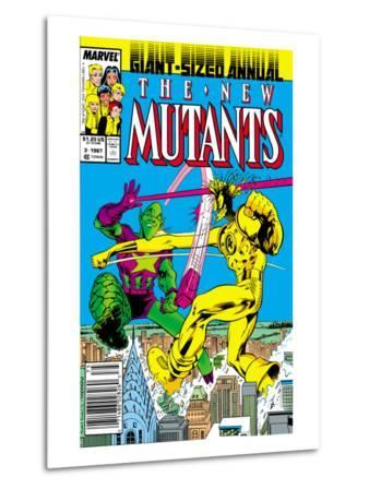 New Mutants Annual No.3 Cover: Impossible Man and Warlock