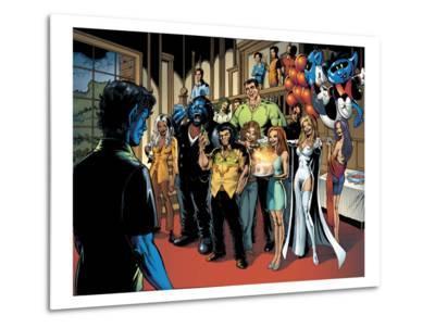 Handbook: X-Men 2005 Group: Nightcrawler, Wolverine, Beast, Emma Frost, Colossus and Storm