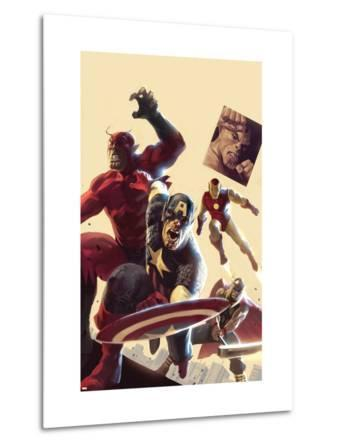 The Mighty Avengers No.12 Cover: Captain America, Giant Man, Iron Man and Thor