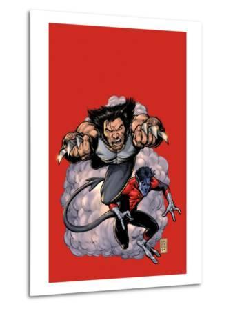 Wolverine No.19 Cover: Wolverine and Nightcrawler Screaming