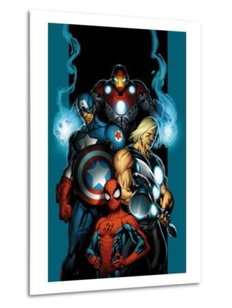 Ultimate Spider-Man No.70 Cover: Spider-Man, Thor, Captain America, Iron Man and Ultimates