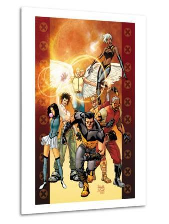 Ultimate X-Men No.84 Cover: Wolverine, Bishop, Angel, Storm, Pyro, Dazzler and Psylocke