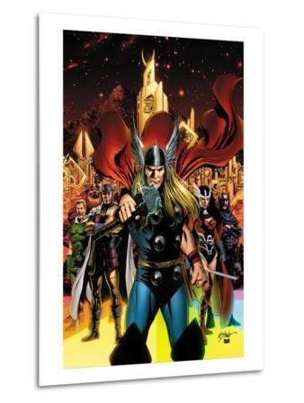 Thor No.82 Cover: Thor, Sif, Balder, Volstagg, Fandrul, Hogun and Warriors Three