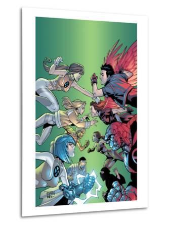 New X-Men No.6 Cover: Wind Dancer, Surge, Hellion, Rock Slide, Dust, New X-Men and Hellions