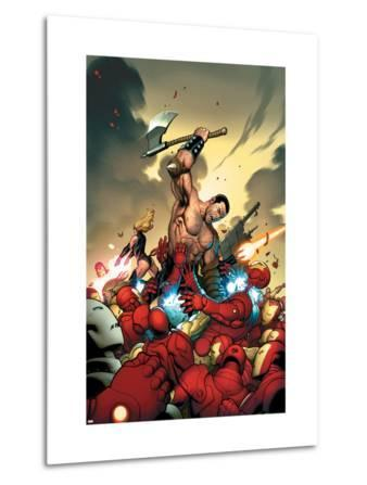 The Mighty Avengers No.4 Cover: Ares and Iron Man