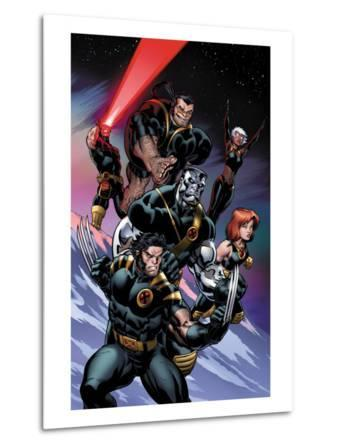 Ultimate X-Men No.100 Cover: Wolverine, Colossus, Grey, Jean, Storm, Beast and Cyclops