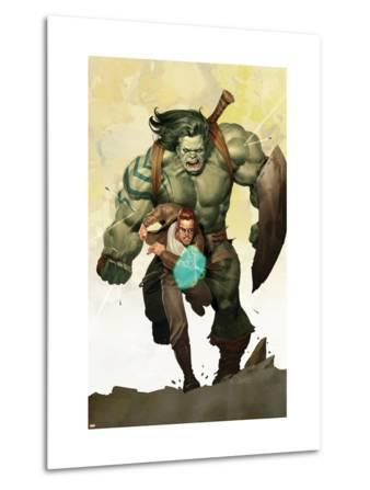 Incredible Hulk No.601 Cover: Banner, Bruce and Skaar Stretching