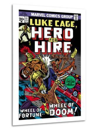 Marvel Comics Retro: Luke Cage, Hero for Hire Comic Book Cover No.11, Wheel of Fortune and Doom
