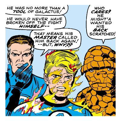 Marvel Comics Retro: Fantastic Four Comic Panel, Mr. Fantastic, Invisible Woman, Thing
