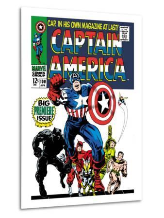Marvel Comics Retro: Captain America Comic Book Cover No.100, with Black Panther, Thor, Namor, Wasp