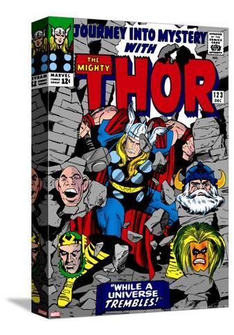 Marvel Comics Retro: The Mighty Thor Comic Book Cover No.123, Mystery, Absorbing Man, Odin & Loki