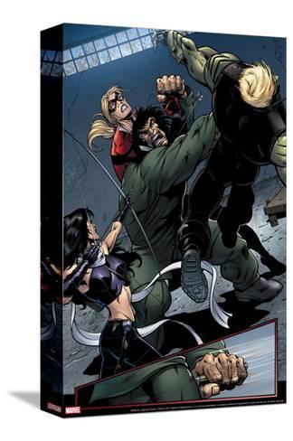 Young Avengers No.8 Group: Mr. Hyde, Bishop, Kate, Hulkling and Young Avengers