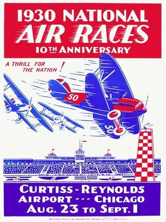 1930 National Air Race Aviation Poster