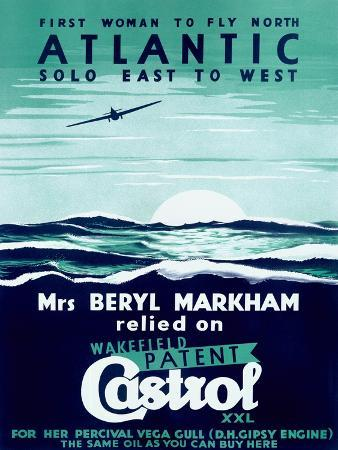 First Woman to Fly North Atlantic Solo/Castrol