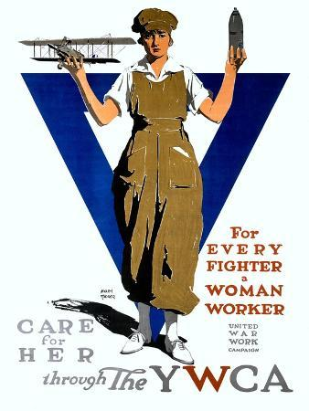 For Every Fighter a Woman Worker/United War Work C