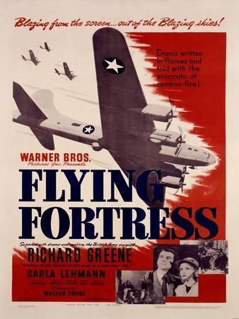 WWII B17 Flying Fortress Movie Poster