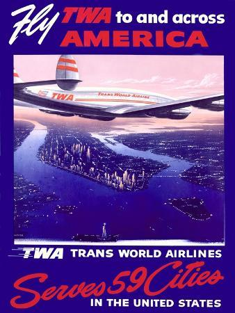 Fly Air America Constellation Poster